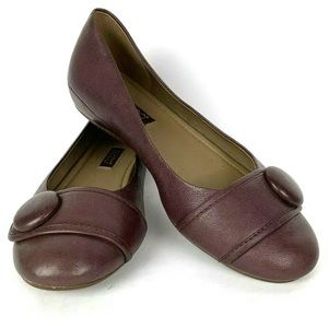 Ecco 7 Owando ballet flat purple mauve leather
